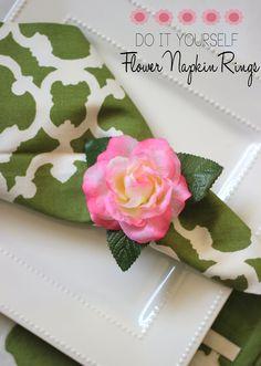DIY Dollar Store: Flower Napkin Rings