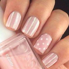 Make your short nails even more beautiful & colorful with Short Gel Nail Art designs. Here are the best Gel Nail Art designs for short nails. White Nails, Pink Nails, Glitter Nails, My Nails, Pink Glitter, Striped Nails, Love Nails, Gorgeous Nails, Pretty Nails