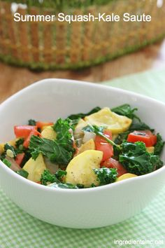 Summer Squash and Kale Sauté--made this last night and it was absolutely delicious!  New go-to veggie dish.  Even the 5 year old loved it!...made it again tonight since the fam couldn't get enough!!