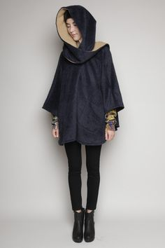 Mid Length Alpaca Cloak by Lindsey Thornburg