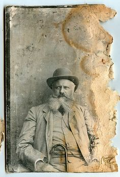 Lovely bearded man. Vintage photography