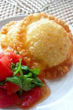 ◆揚げカレー餃子noトマトソース添え◆の画像