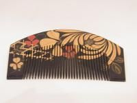 Antique Japanese hair comb and pin Kushi, Kanzashi and Kougai in wood box. - Images hosted at BiggerBids.com