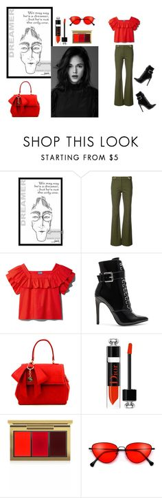 """Untitled #50"" by lillylillygote ❤ liked on Polyvore featuring 10 Crosby Derek Lam, Danielle Guizio, Christian Dior and MAC Cosmetics"