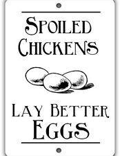 Spoiled Chickens Indoor/Outdoor Aluminum No Rust No Fade Chicken Coop Sign