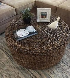 NEW Abaca Seagrass 36 Coffee Table... Handwoven in Bali