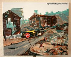 Springvale Fallout 3 Landscape Painting by Kazzoo