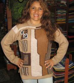 Würfel #Design #Pullover aus #Alpakawolle