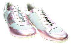 Fashionable, youthful & feminine sneakers for women.Versace Women's ST5AM7 8086 Pink Silver Sneakers