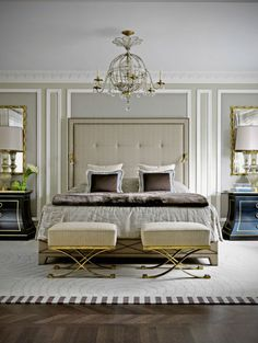 Sophisticated bedroom styling in Parisan chic decor @pattonmelo