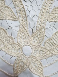Bobbin Lace Patterns, Crochet Doily Patterns, Crochet Doilies, Point Lace, Needle Lace, Salons, Angeles, Embroidery, Deco