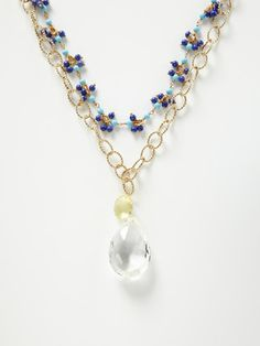 Alanna Bess Jewelry Crystal Quartz & Bead Necklace