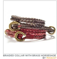 braided lariat collars