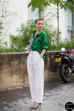 Vika Gazinskaya Street Style Street Fashion by STYLEDUMONDE Street Style Fashion Blog