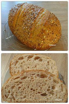 Zabpelyhes kovászos tönkölykenyér | Betty hobbi konyhája Ring Cake, How To Make Bread, Scones, Bakery, Food And Drink, Healthy Recipes, Breads, Diet, Hama