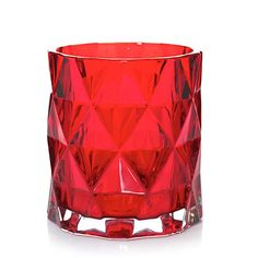 """Ruby Fractal : Jar Candle Holder : Yankee Candle - $12.99 (2016) - Dimensions: 4.25"""" x 4"""""""