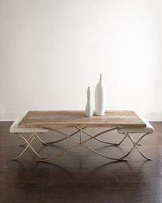 Kye Coffee Table with Two Stools at Neiman Marcus.