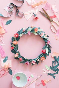 Diy Zimmerdeko diy paper floral crown floral crown crown and diy paper