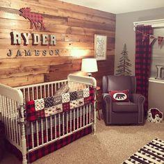 #LumberjackNursery #BuffaloPlaid #BabyBoyNursery