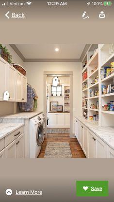 Pantry Laundry Room, Laundry Room Layouts, Laundry Room Remodel, Laundry Room Storage, Laundry Room Design, Pantry Storage, Laundy Room, Kitchen Pantry Design, Laundry Room Inspiration