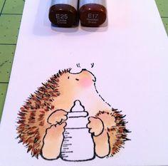 Tutorial on Coloring Penny Black Hedgehogs