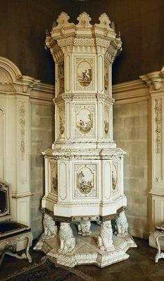 Керамическая печь во дворце Кински, 1740 год