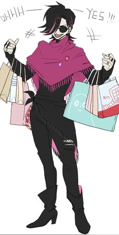 The first thing mettaton did when he went to the surface,is go to fucking forever 21.<<YES.<<The napstablook bag oh my god.