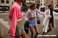 Europe Fashion Men's And Women Wears......: ALEXANDER WANG'S SPRING 2017 CAMPAIGN HITS THE STR...