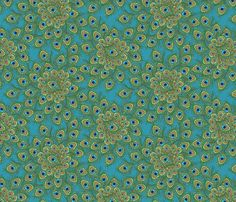 peacock_by_the_numbers_1 fabric by glimmericks on Spoonflower - custom fabric