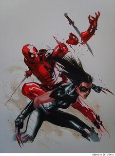 Deadpool vs X-23 by Gabriel Dell'Otto