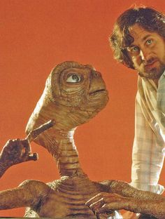 ET The Extra Terrestrial (1982). And his friend Steven Spielberg (another friendly movie monster).