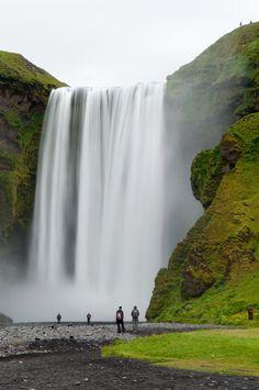 Skogafoss Waterfall in Iceland. It is the biggest waterfall in Iceland. Longer than 200 feet.