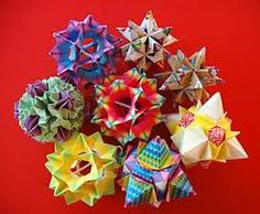 Origami.  These would be cool to make for presents with matching wrapping paper.