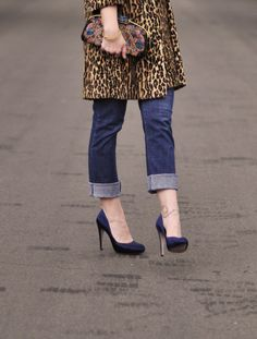 Throwing on a leopard coat is a fun, easy way to incorporate leopard print into an outfit.