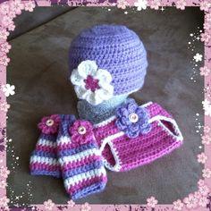 Free Baby Crochet Diaper Cover | Crochet Baby Set