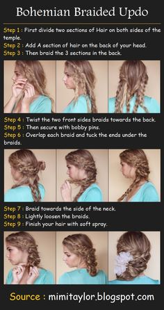 Beauty Tutorials: Hair tutorials -- pretty! Might wear this to work sometime, but I'll have to have Mom describe it better for me lol