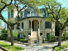 Historic Trube House, Galveston, TX.  USA