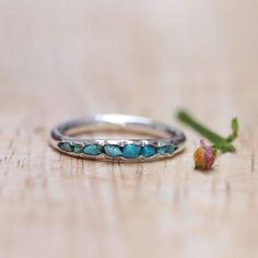 Türkis Ring Ring mit blauen echten helltürkis von GardensOfTheSun