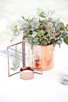 Table Decoration Wedding – vegetable and copper wedding - Home Page Table Decoration Wedding, Wedding Table Numbers, Trendy Wedding, Diy Wedding, Wedding Ideas, Elegant Wedding, Rustic Wedding, Wedding Budget Worksheet, Wedding Colors
