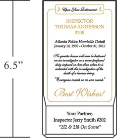 Police Retirement Gifts and Wording Samples | Retirement