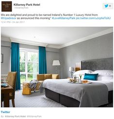 Looking for luxury rooms and suites at The Killarney Park? Check availability at The Leading Hotels of the World Leading Hotels, Luxury Rooms, Park Hotel, 5 Star Hotels, Couch, Bedroom, Staging, Furniture, Design