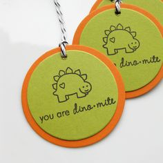Dinosaur Birthday Tags -Etsy.