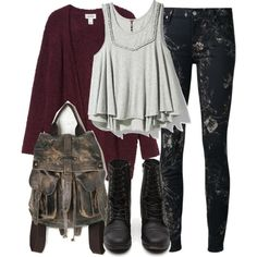 """Malia Inspired Fall School Outfit"" by veterization on Polyvore"