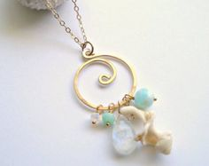 wire shell jewelry   Sorry, this item sold. Have BellaAnelaJewelry make something just for ...
