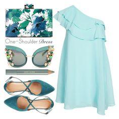 """One-Shoulder"" by minchu ❤ liked on Polyvore featuring Club L, Dolce&Gabbana, Estée Lauder, Charlotte Russe, dress, oneshoulder and OneShoulderDress"