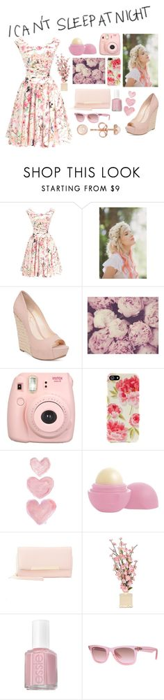 """I'm so tired of sleepless nights"" by gabbs-mckenzie ❤ liked on Polyvore featuring Unique Vintage, Whichgoose, Jessica Simpson, Agent 18, Shabby Chic, Eos, Charlotte Russe, Essie, Ray-Ban and Latelita"