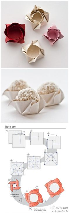 Rose Box...   Una idea genial si se ha estropeado la cápsula de los cupcakes al hornearlos
