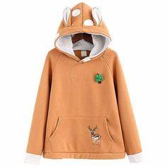 Kyu-T Head Night Kawa the Cute Critter Hoodie Sweatshirt