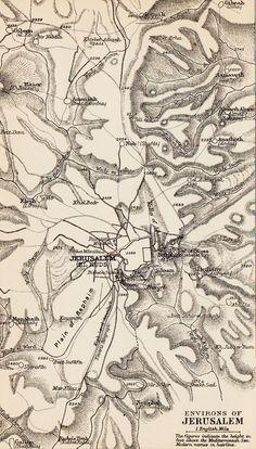 Map Jerusalem c 1900