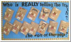 Point of View - who is telling the truth the wolf or the pigs?  Good engaging idea